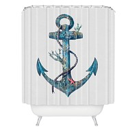 Terry Fan Lost At Sea Shower Curtain