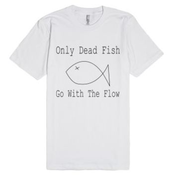 Go With The Flow-Unisex White T-Shirt