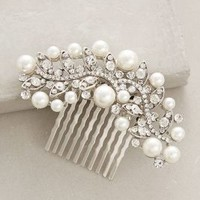 Pearled Majalis Comb by Anthropologie in Silver Size: All Hair