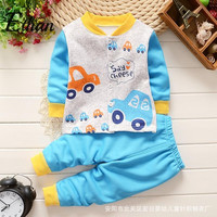 Clothing Stores Cheap Baby Boy Suits Gentleman Clothes Kids Clothes Set Winter Clothing For Boys Blue Car Print Jacket + Pants