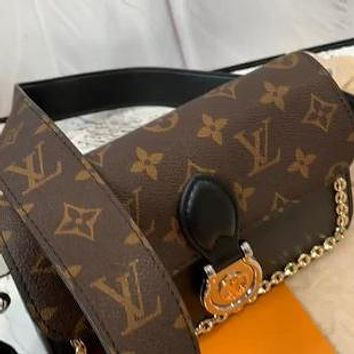 LV simple women's wide shoulder strap shoulder bag crossbody bag