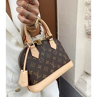 Louis Vuitton monogrammed casual women's shell bag handbag one shoulder cross-body bag