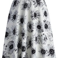 Adore Daisy A-line Skirt in Off-white Multi S/M