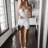 Skirt Simple Design Vest One Piece Dress [9688307727]