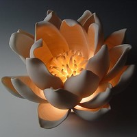 Tulip by Lilach Lotan: Ceramic Table Lamp | Artful Home