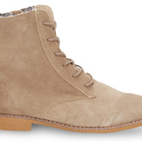 TOMS Taupe Suede Women's Alpa Boots Natural