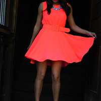 Vintage Pop Dress: Neon Pink | Hope's