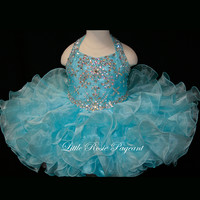 Halter Beaded Little Rosie Pageant Dress BR1102
