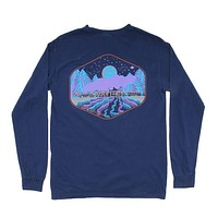 Limited Edition Night Train Long Sleeve Tee in Navy by Waters Bluff