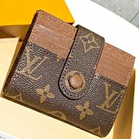 LV Louis Vuitton New fashion monogram leather wallet purse card package handbag