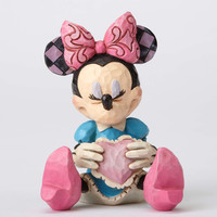 Disney Mini Minnie Mouse with Heart Jim Shore Resin Figurine New with Box