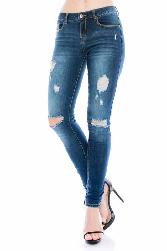 Image of All Around Distressed Skinny Jeans