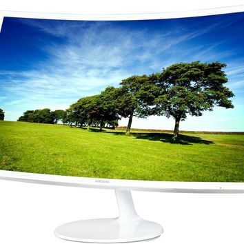 """SAMSUNG C32F391 Glossy White 32"""" 4ms Widescreen LED LCD Monitor Curved"""
