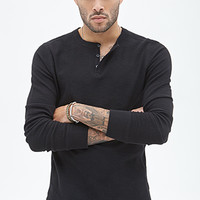 Paneled Thermal Henley
