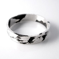 Oxidized Ring Band - sterling silver