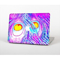 """The Neon Pink & Turquoise Peacock Feather Skin Set for the Apple MacBook Air 13"""""""