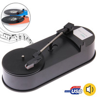 USB Mini Phonograph / Turntable / Vinyl Turntables Audio Player, Support Turntable Convert LP Record to MP3 Function
