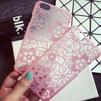 Womens Pink Lace iPhone 5s 6 6s Plus Case Cover + Nice Gift Box