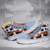 Trendsetter Vans x Toy Story Dairy Cow Print High-Top Sneakers Sport Shoes