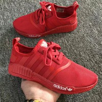 """""""Adidas"""" Unisex Sport Casual Stripe Breathable Running Shoes Couple Fashion Solid Color Sneakers"""
