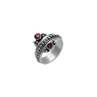 Metal Reflection Sterling Silver Garnet Spinner Ring