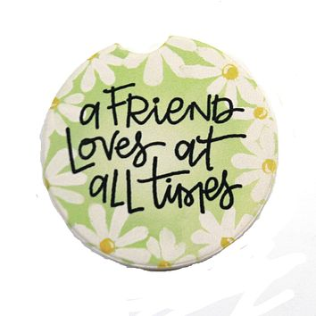 Car Coaster Friends At All Time Coaster Absorbant Daisies - 77172