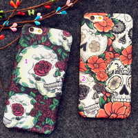 Luminous Skull iPhone 7 6 6s Plus Case +Gift Box