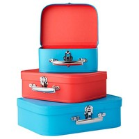 Bon Voyage Suitcase (Blue/Red) in Tabletop Storage   The Land of Nod