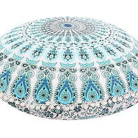"32"" Round Mandala Tapestry Floor Pillows Cover Meditation Cushion Covers"