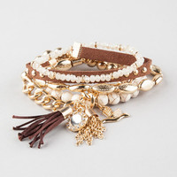 Full Tilt 5 Piece Az Friendship Bracelets Gold One Size For Women 26751962101