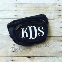 Fanny Pack, Hip Bag, Sports Bag, Weather Resistant, 3 Zipper, Adjustable, Running and Fitness, Vacation, Tourist, Beach, Vacation