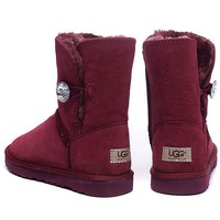 Tagre™ UGG Fashion Women Fur Leather Wool Snow Boots In Tube Boots Shoes
