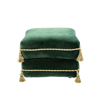 Green Velvet Stacked Pillow Stool | Eichholtz Bernini