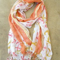 Come Sail Away Anchor Scarf [2257] - $9.00 : Vintage Inspired Clothing & Affordable Fall Frocks, deloom | Modern. Vintage. Crafted.