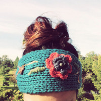 WINTER SPECIAL Knit Flower Headband, Knit Headband, Knit Beanie, Turban, Cute Turban Headband