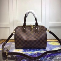 Beauty Ticks Louis Vuitton Lv Monogram Leather Speedy 35 Handbag Shoulder Bag #3588