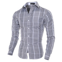 Check Design Slim Fit Dress Shirt