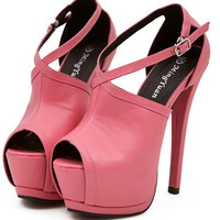 New Western Style Sexy Pierced Club High-heel Bandage Platform Fish-mouth Pumps Shoes