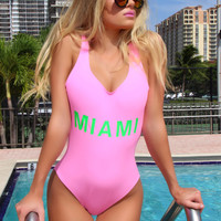 All Barbies Loves Miami One Piece Swimsuit