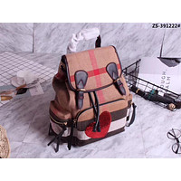 BURBERRY HOT STYLE CANVAS AND LEATHER BACKPACK BAG