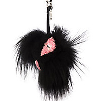 Fendi - Fox Fur & Sheep Fur Bag Bug - Saks Fifth Avenue Mobile