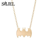 Ghost Jewelry18K Gold Plated Little Batman Necklace Tiny Animal necklaces N046