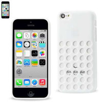 Polymer Case For IPHONE 5C WHITE WITH DOTS PATTERN