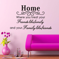 Wall Sticker Black Home Title Characterss 15*27 IN Removable Room Decor SM6