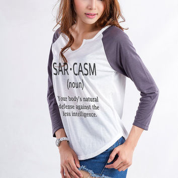 Sarcasm Shirt Women Raglan T Shirt Tee Shirt Grunge Shirt Tumblr Spooky Fresh T Funny Quotes on Shirt Instagram Blogger Gift ideas