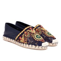 VALENTINO | Embroidered Calf Leather Espadrilles | Browns fashion & designer clothes & clothing