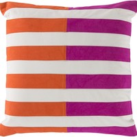 Oxford Throw Pillow Pink, Orange