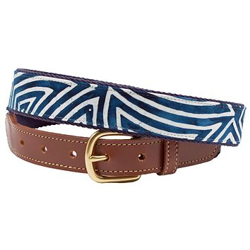 Pop Art Leather Tab Belt by Country Club Prep