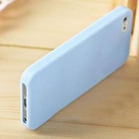 Anley® Candy Fusion Jelly Silicon Case Cover Slim Fit for Iphone 4 4G 4S Color Blue