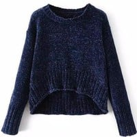 High Low Knit Pullover Sweater